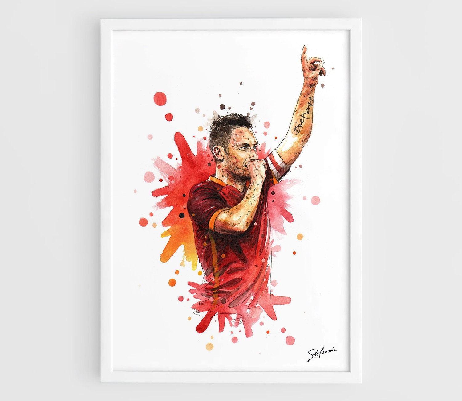 Francesco Totti AS Roma A3 Wall Art Print Poster of the