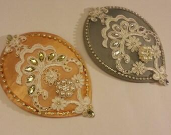 Bridal fascinator,Vintage inspired Tear drop hat  & birdcage veil GOLD HAT  2 Pc bridal accessories Hair piece, crystal Rhinestone pearls