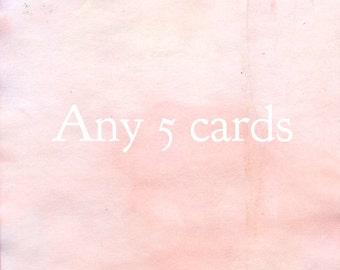 Any 5 cards!