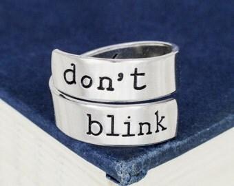 Don't Blink Wrap Ring