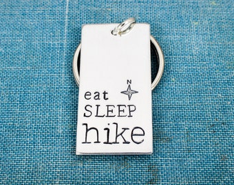 Eat Sleep Hike Keychain