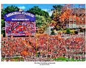"Clemson Football ""Most Exciting 25 Seconds"" (Horizontal Print) Clemson Tigers art print by Jeff McJunkin"