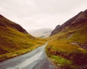 THE ROAD photography print,  Highlands landscape Scotland, 8x12