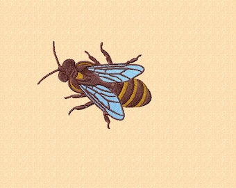 Embroidery pattern - honey bee -  4 sizes