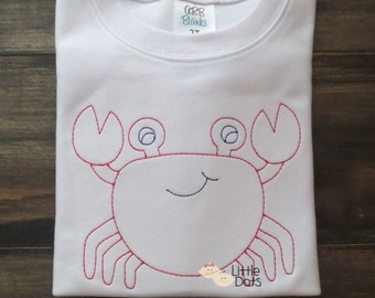Boys Sketch Crab Embroidered Shirt