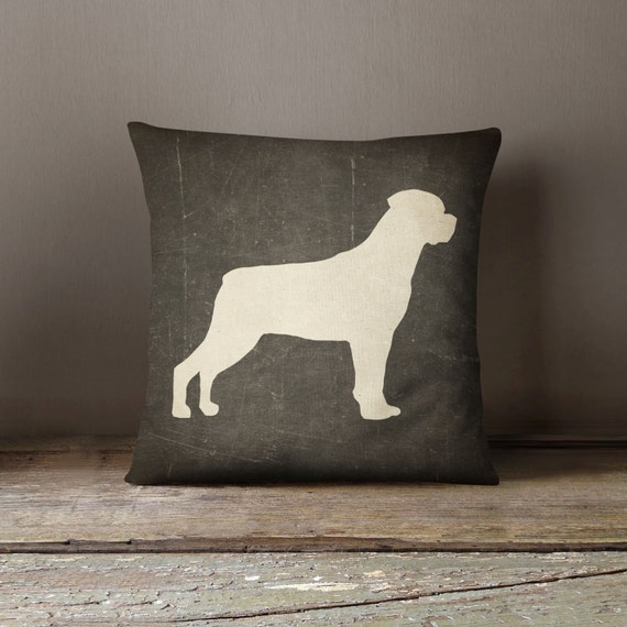 Decorative Pillow With Dog : Rottweiler Pillow Decorative Pillow Custom Dog Pillow Cover