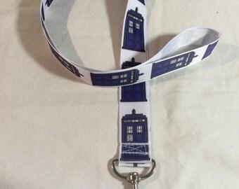 DOCTOR WHO TARDIS lanyard