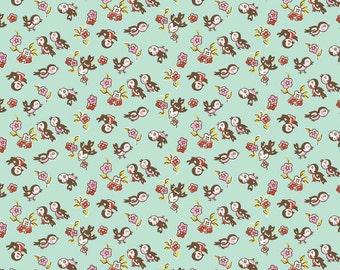 Riley Blake Designs - Milk Magpie Mint - C4343-MINT
