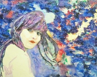 Indigo Child- The Color In My Head- Fine Art Print Signed by Sheryl Wing