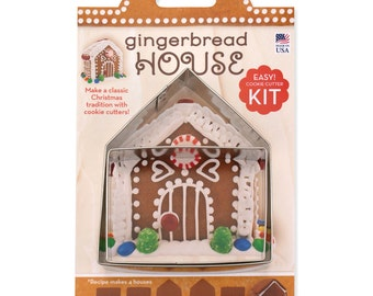 """2 Piece Gingerbread House Cookie Cutter Kit 4"""""""