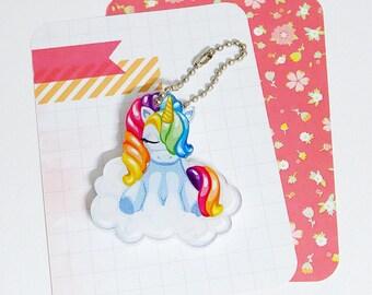 Rainbow Unicorn Acrylic Keychain