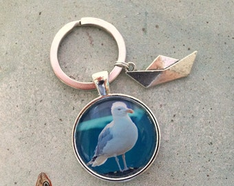 Keychain Seagull paper boat