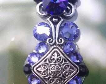 Purple and Black Crystal Bindi