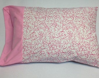 Breast Cancer Awareness Pink Ribbon Encouragement Standard Pillowcase