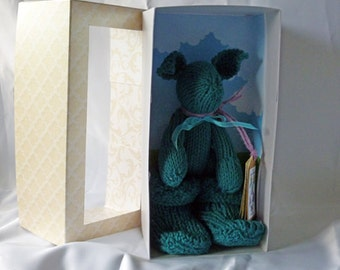 Cotton Critter with snugg boots - teal