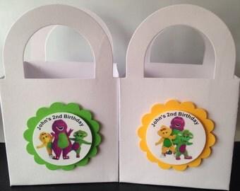 Barney Birthday Party favor bags treat goody gift sacks
