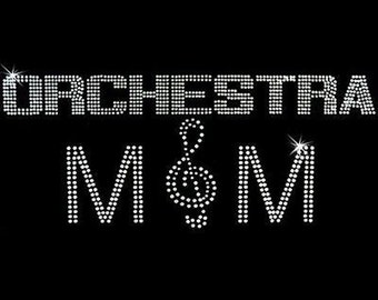 Rhinestone Transfer - Hot Fix Motif - Orchestra Mom