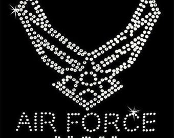 Rhinestone Transfer - Hot Fix Motif - Air Force Mom