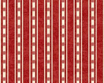 Studio E Fabrics - American Folk Stripe Red E3213 88 - Quilting Fabric