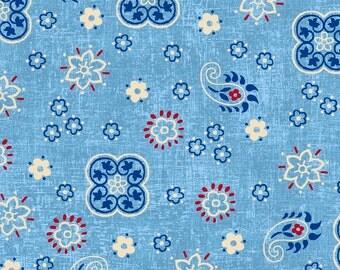 Studio E Fabrics - American Folk Blue E3214 11 - Quilting Fabric