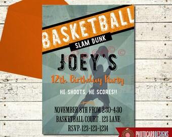 Basketball invites Etsy