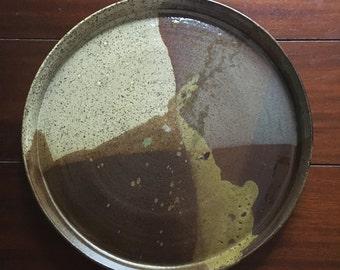 Ceramic dinner plate// hostess gift//serving plate