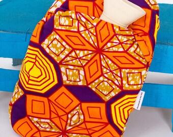 African print hot water bottle - starburst