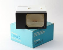 Vintage Photax Stellar 2 Slide Viewer Boxed with Instructions - Working