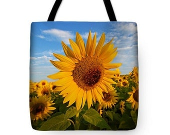 Sunflower Tote Bag, Grocery Tote Bag, Flower Tote Bag, Summer Tote Bag,  Beach Tote Bag, Yellow Tote Bag