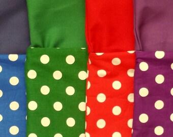 10 Small Polka Dot Chair Pockets, Seat Sack
