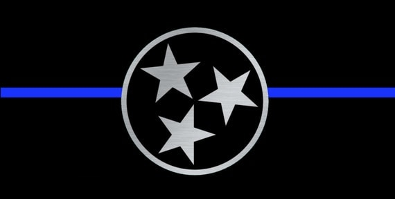 Aluminum License Plate Frame >> Tennessee Tri Star License Plate. Thin Blue Line License