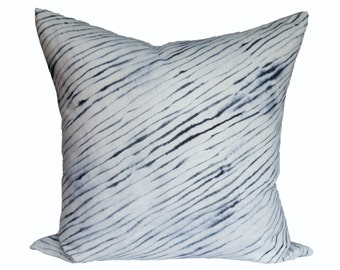 Rebecca Atwood Blurred Stripe - designer pillow cover - Made to Order - Choose Your Size