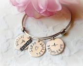 Medical ID Bracelet, Medical Alert Bracelet, Med ID Bracelet, Hand Stamped ID Bracelet, Diabetes Bracelet, Medical Bracelet,  Medical Alert