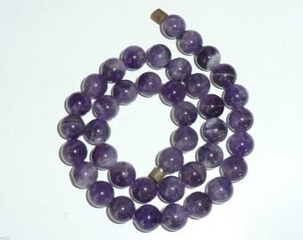 Vintage natural Amethyst bead necklace