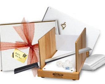 Gift Set. Bread Slicer - Has All The Accessories Needed. Includes Gift Wrap! Foolproof Slicing!