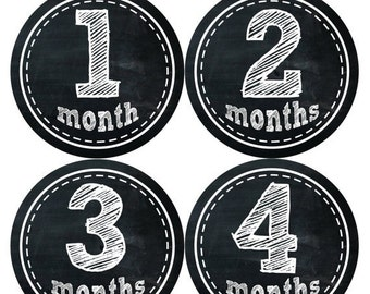Monthly Stickers Monthly Baby Stickers Baby Month Milestone Stickers Baby Month Stickers Month to Month Bodysuit Stickers Shower Gift 155