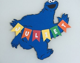 Personalized Cookie Monster Name Sign