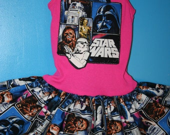 Girls Star Wars dress, Stormtrooper Dress, Darth Vader, Size 4/5 or 6/6X   READY To SHIP!