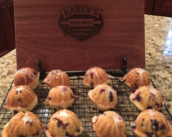 Gluten Free Blueberry Muffins with Lemon Glaze