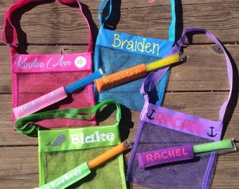 SeaShell Tote Personalized - w/Free Popsicle Holder