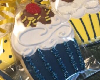 Cupcake Shaped Sugar Cookies