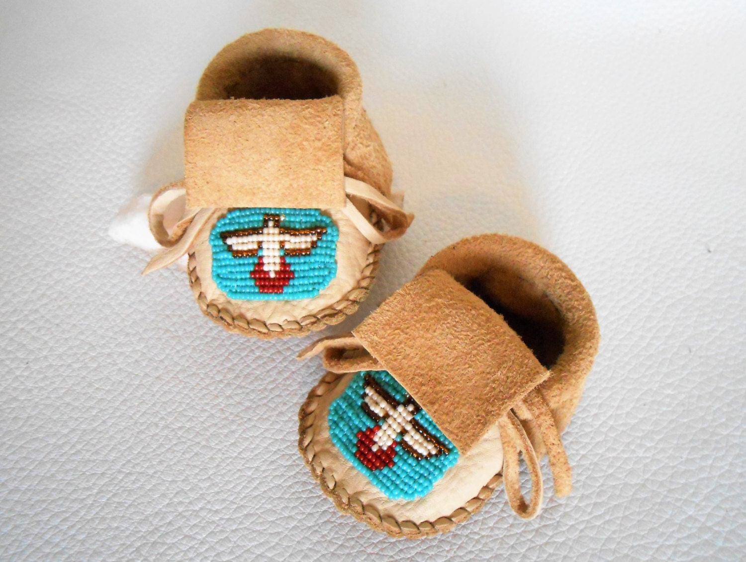 beaded baby moccasins handmade infant mocs sewn