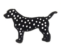 Preppy standing dog (labrador or lab) silhouette machine embroidery and appliqué design in several sizes and styles.