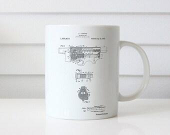 Thompson Submachine Gun Patent Mug, Tommy Gun, Gun Enthusiast, Mafia, Gun Mug, PP1099