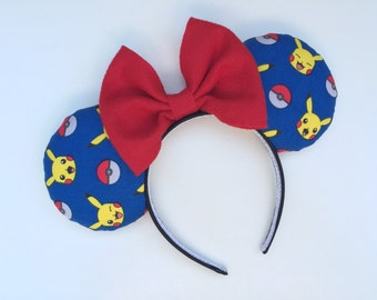 Pokemon Go Pikachu Minnie Mouse Ears