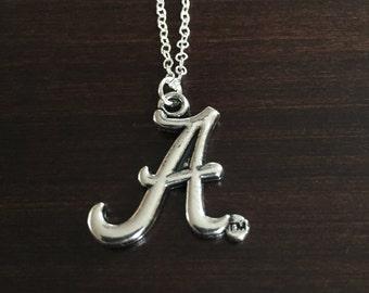 Alabama necklace, Alabama Crimson Tide necklace, Alabama jewelry, Alabama, Crimson Tide, Alabama Crimson Tide, Crimson Tide necklace, Bama