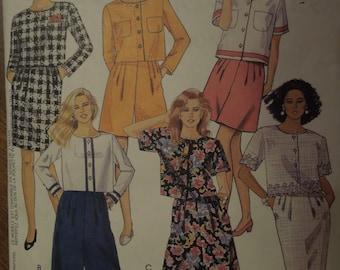 McCalls 6061, sizes 20-24, misses, womens, UNCUT sewing pattern, craft supplies, unlined jacket, split skirt, skirt