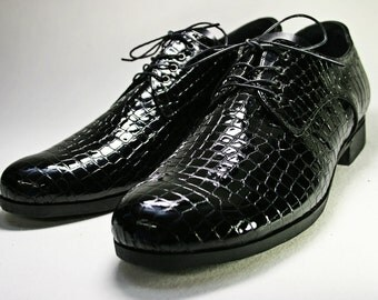 Black patent-Leather Derby Shoes