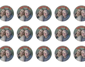 15 Cupcake Toppers, Your Own Photo, Edible