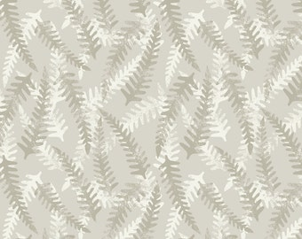 Lewis & Irene Patchwork Quilting Fabric Bluebell Wood A130.1 Cream Fern